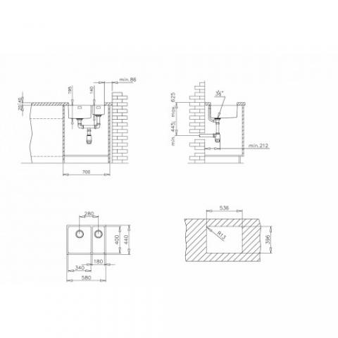 BE LINEA R15 2B 580(10125167) нержавеющая сталь