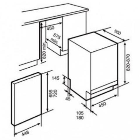 Посудомоечная машина встраиваемая Teka DW 8 41 FI (40782145)