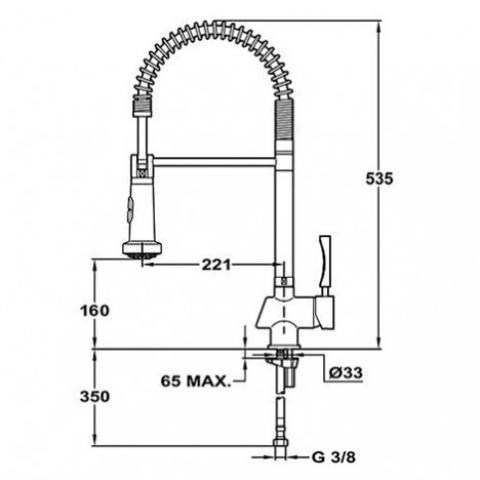 Смеситель кухонный Teka Cuadro Pro (ARK 934) (38931902) хром