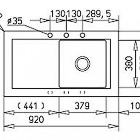 Кухонная мойка Teka AURA 45B TG (88391) белый