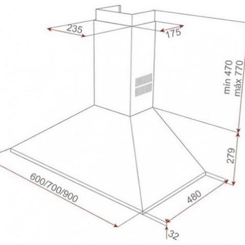 Вытяжка кухонная Teka DBB 90 (40460440) нержавеющая сталь