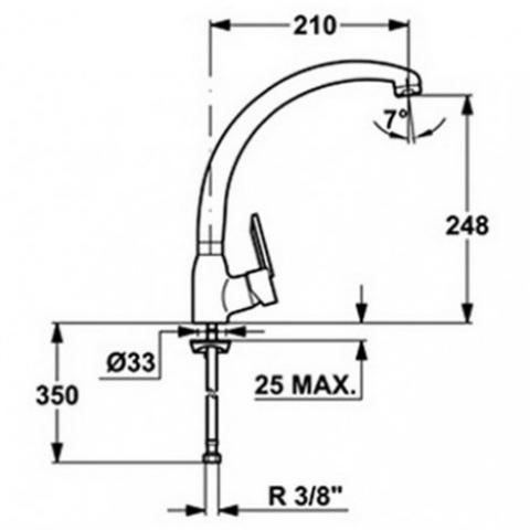 Смеситель кухонный Teka MF-2 Forum H (MN) (81911462) хром