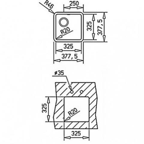Кухонная мойка Teka Radea 325/325 TG (40143602) белый