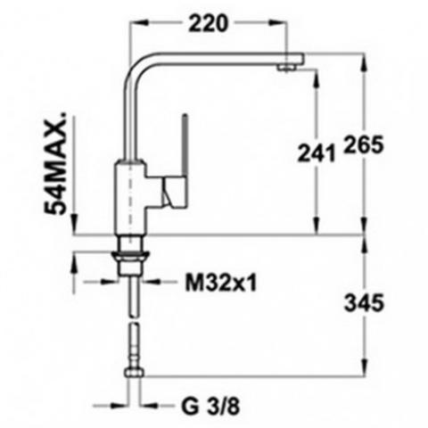 Смеситель кухонный Teka Inox H2 (INX 994) (749940710) нержавеющая сталь