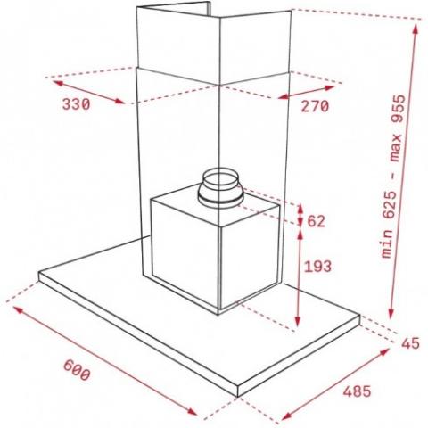 Вытяжка кухонная Teka (WISH, Maestro) DLH 686 T (40487180) нерж. сталь