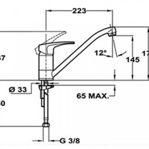Смеситель для кухни TEKA MB2 L (MS1) (40911302NG) антрацит