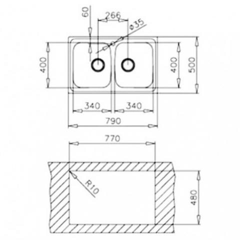 Кухонная мойка Teka Basico 79 2B (11124025) матовая