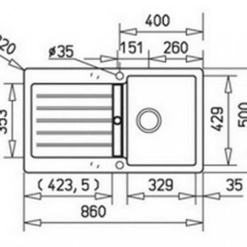 Кухонная мойка Teka LUGO 45 B TG (40140921) песочный