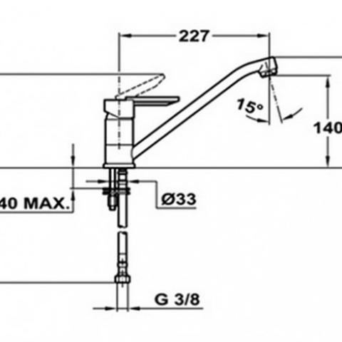 Смеситель кухонный Teka MF-2 Forum L (ML) (81911362) хром