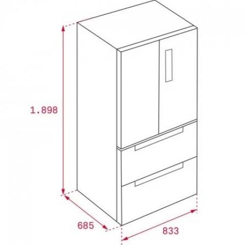 Холодильник Teka RFD 77820 GBK (113430004) черное стекло