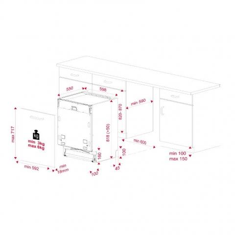 Посудомоечная машина встраиваемая Teka DFI 46900 (114270005)