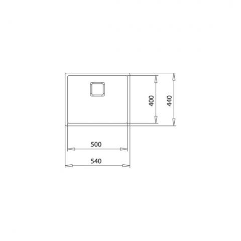 Кухонная мойка FLEXLINEA RS15 50.40 (115000012) нержавеющая сталь