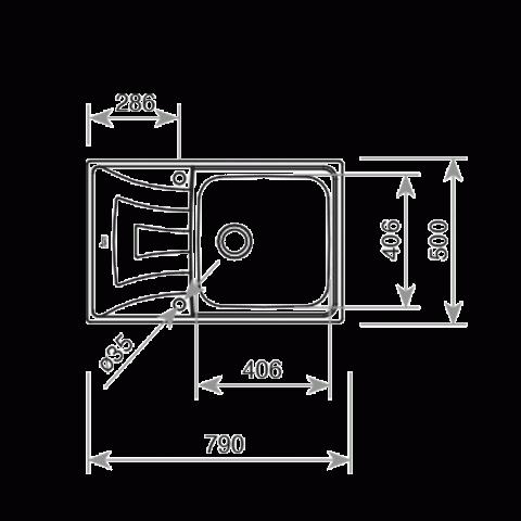 Кухонная мойка Teka UNIVERSO MAX 79 1B 1D (115120002) полированная