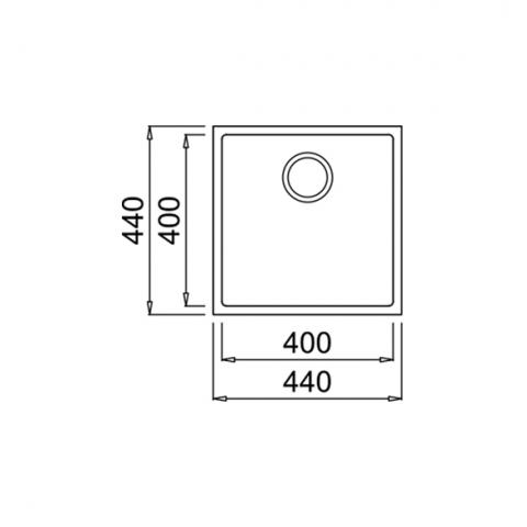 Кухонная мойка Teka Square 40.40 TG (115230025) черный