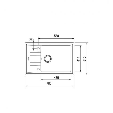 Кухонная мойка Teka STONE 60 S-TG 1B 1D (115330030) песочный
