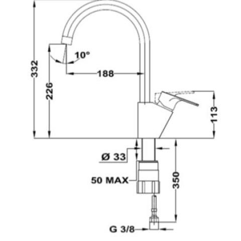 Смеситель кухонный Teka MTP 994 (116030002) хром