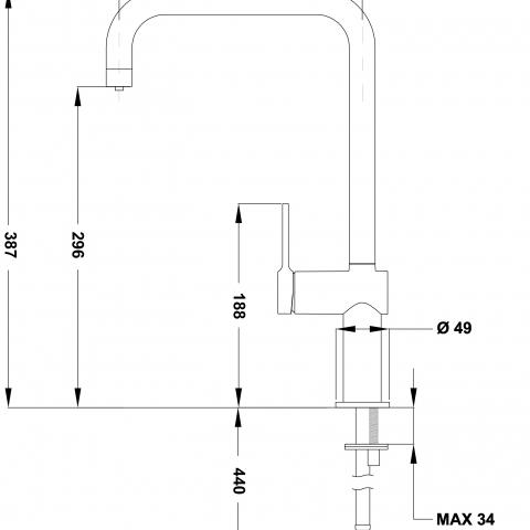 Смеситель кухонный Teka EP 915 (116080000)