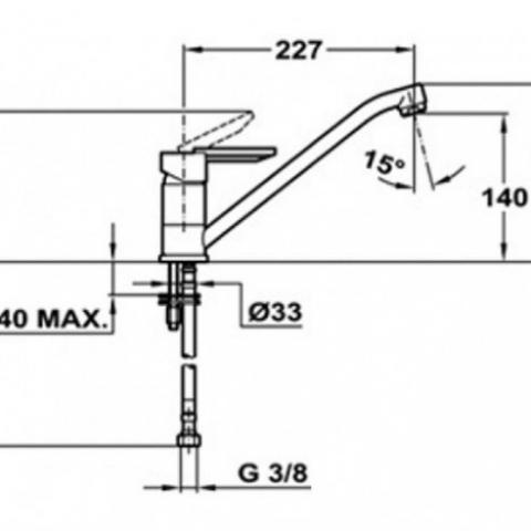 Смеситель кухонный Teka MF-2 Forum L (ML) (81913620VE) алебастр