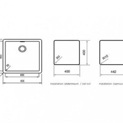 Кухонная мойка Teka Radea 400/400 TG (40143801) черный металлик