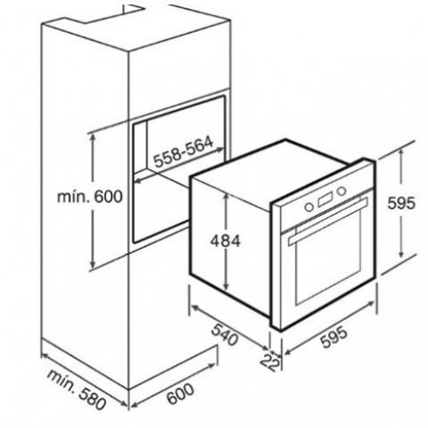 Электрический духовой шкаф Teka HS 710 (Ebon) (41524313) черный