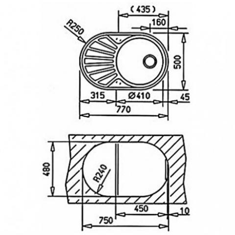 Кухонная мойка Teka DR 77 1B 1D (40127301) матовая