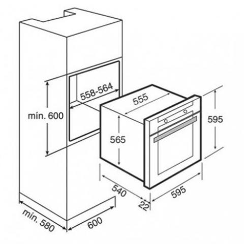Электрический духовой шкаф Teka HL 840 (Ethos) HYDROCLEAN (41552410) нержавеющая сталь