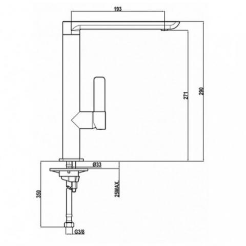 Смеситель кухонный Teka Formentera H (FO 915) (629150210) хром
