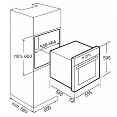 Электрический духовой шкаф Teka HS 725 (Ebon) (41524310) нержавеющая сталь