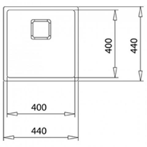 Кухонная мойка FLEXLINEA RS15 45.40 (115000013) нержавеющая сталь