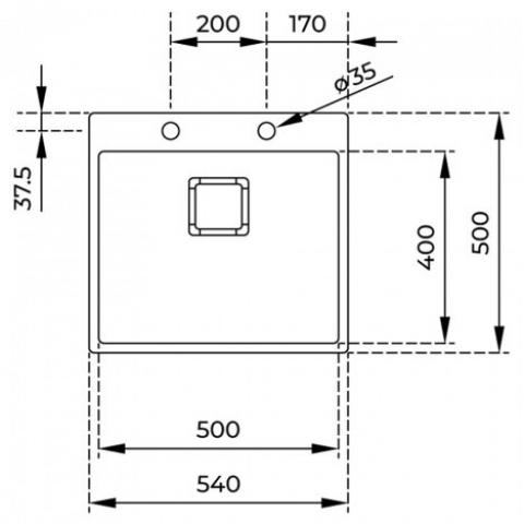 Кухонная мойка ForLinea RS15 50.40 (115000018) нержавеющая сталь