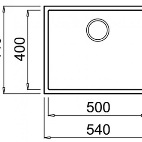 Кухонная мойка Teka SQUARE 50.40 TG (115230022) светло-бежевый