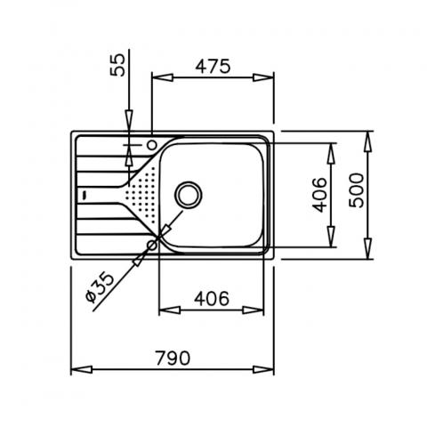 Кухонная мойка Teka UNIVERSO 45 1B 1D (115110016) микродекор