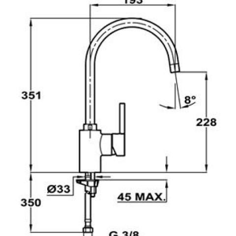 Смеситель кухонный Teka ARK 915 Alaior-XL H (239151200) хром