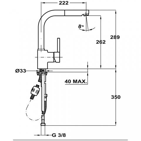 Смеситель кухонный Teka ARK 938 (23938120Q) хром