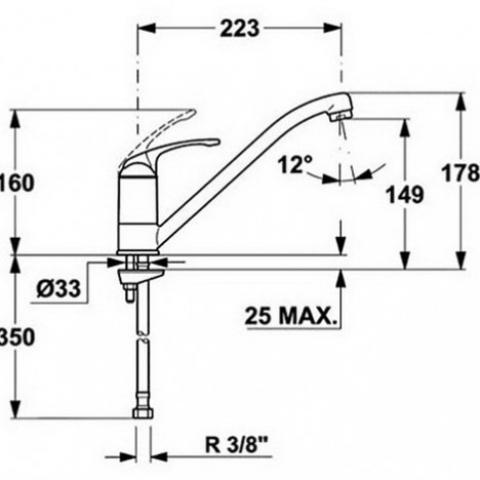 Смеситель кухонный Teka MT (96911302CI) песочный
