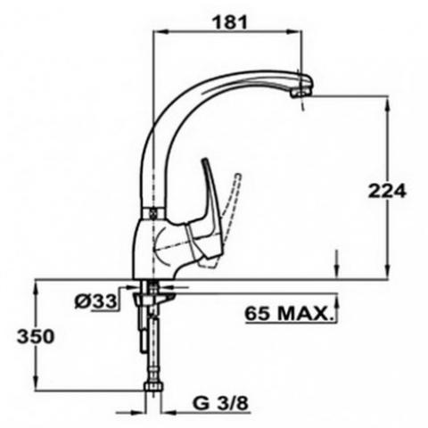 Смеситель кухонный Teka MB2 HC (MH) (40911502) хром