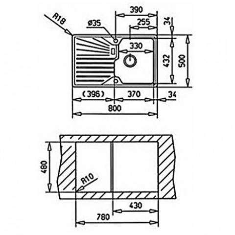 Кухонная мойка Teka CASCAD 45B TG (40143108) бежевый