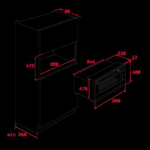 Электрический духовой шкаф Teka HLF 940 (41592223) черный