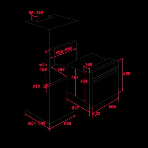 Электрический духовой шкаф Teka UrbanColor HLC 8400 (111130005) дымчатый серый