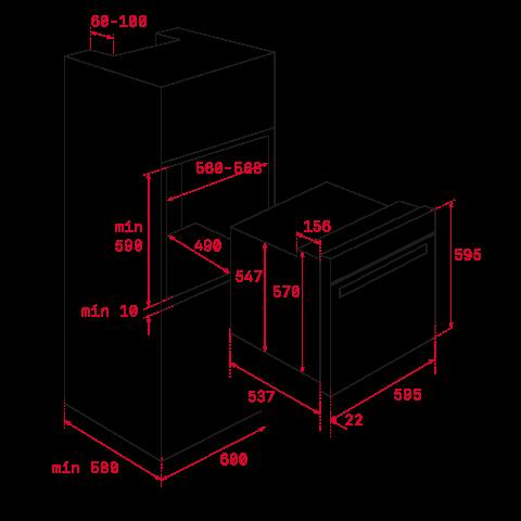 Электрический духовой шкаф Teka UrbanColor HLB 8600 (111000012) белое стекло