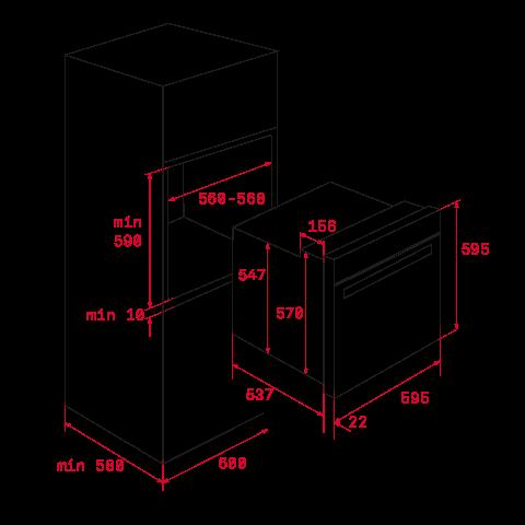 Электрический духовой шкаф Teka UrbanColor HLB 8600 P (111000015) серый камень