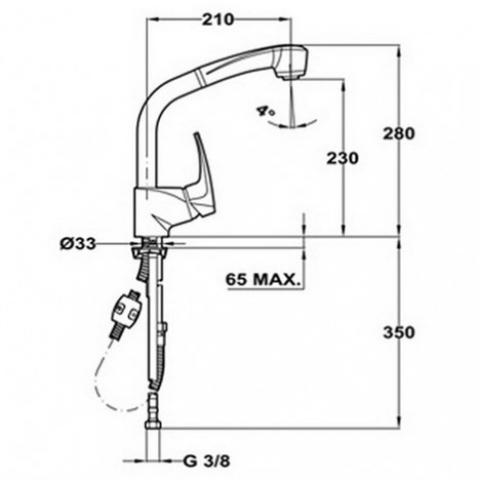 Смеситель кухонный Teka MB2 HP (40931802) хром