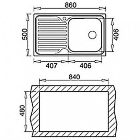 Кухонная мойка Teka CLASSIC 1B 1D (10119057) микротекстура