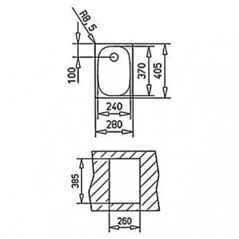 Кухонная мойка Teka E 1B (10132001) полированная