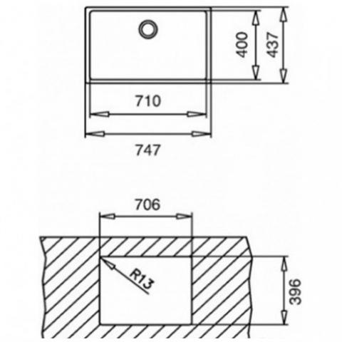 Кухонная мойка Teka TOP BE LINEA 71.40 R15 (10138006) полированная