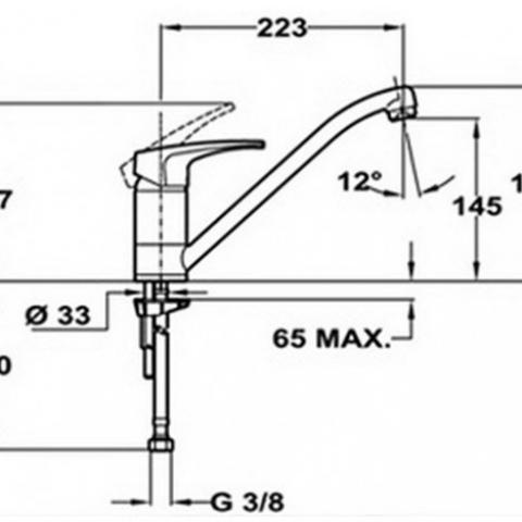Смеситель кухонный Teka MB2 L (MS1) (40911302) хром