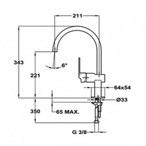 Смеситель кухонный Teka Cuadro H (MZ) (38911502) хром