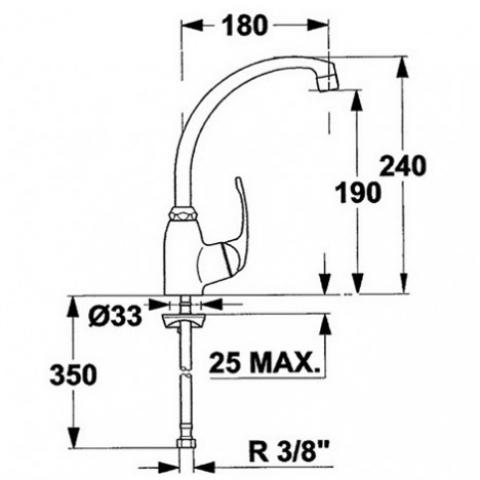 Смеситель кухонный Teka MT H (MB2 914) (96911402) хром