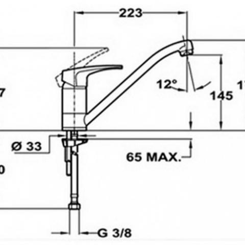 Смеситель кухонный Teka MB2 L (MS1) (40911302TB) топаз
