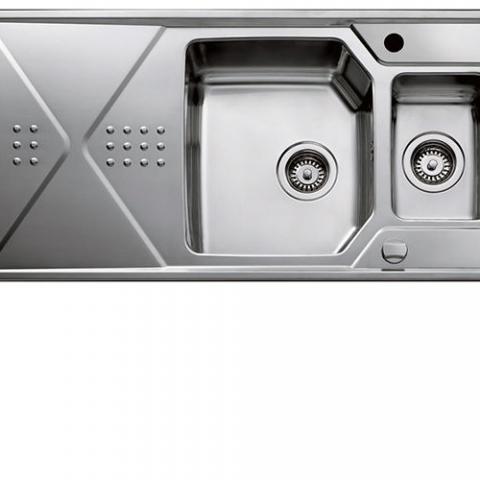 Кухонная мойка TEKA EXPRESSION 1½B 1D (12126013) сталь микротекстура